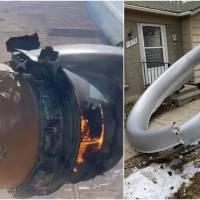 Motor de avião pega fogo no ar e fuselagem despenca sobre casa nos EUA