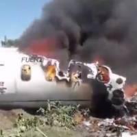Imágenes: 6 militares fallecieron en accidente de avión en México
