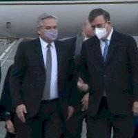 Alberto Fernández, presidente de Argentina, llega a México para reunirse con AMLO