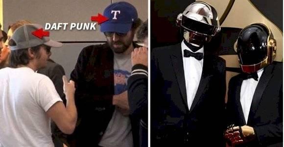 Daft Punk, sin cascos