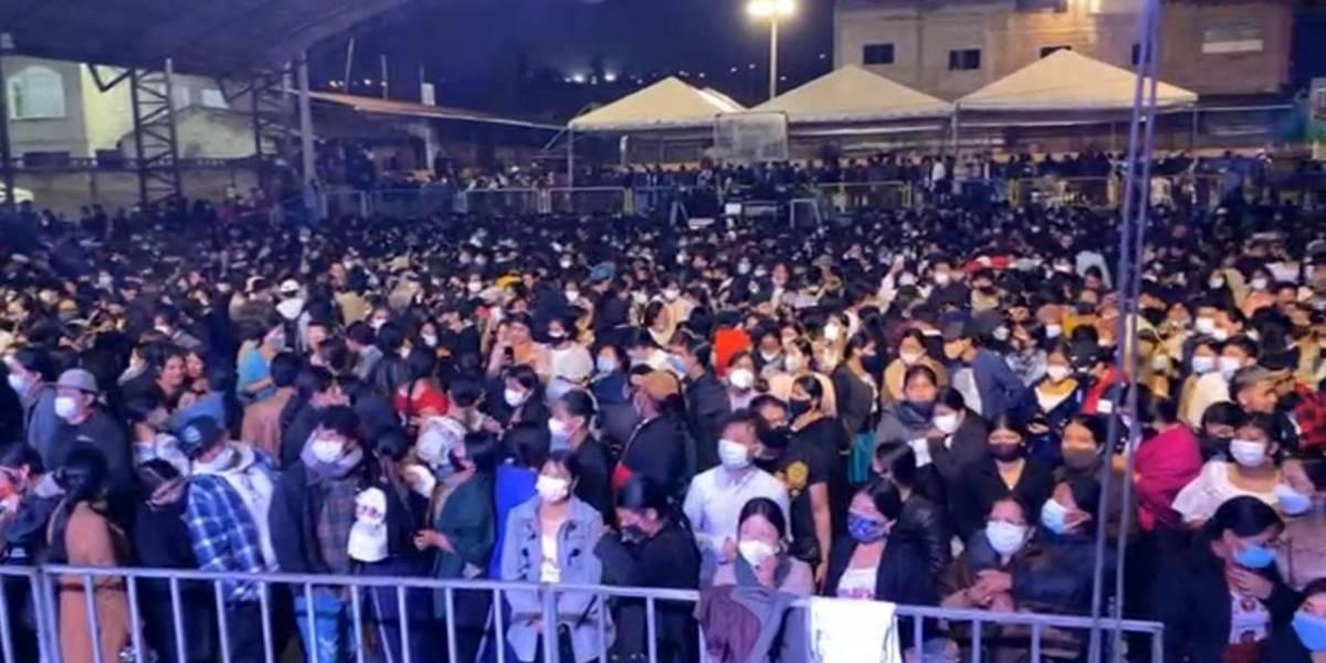 Indignación por concierto masivo con artistas en Peguche, Otavalo