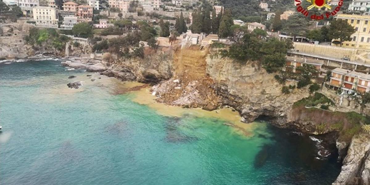 Derrumbe de un cementerio lanza unos 200 ataúdes al mar en Italia
