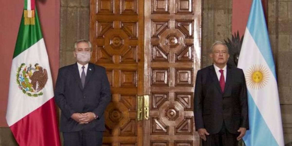 Así fue la recepción del presidente Alberto Fernández en Palacio Nacional