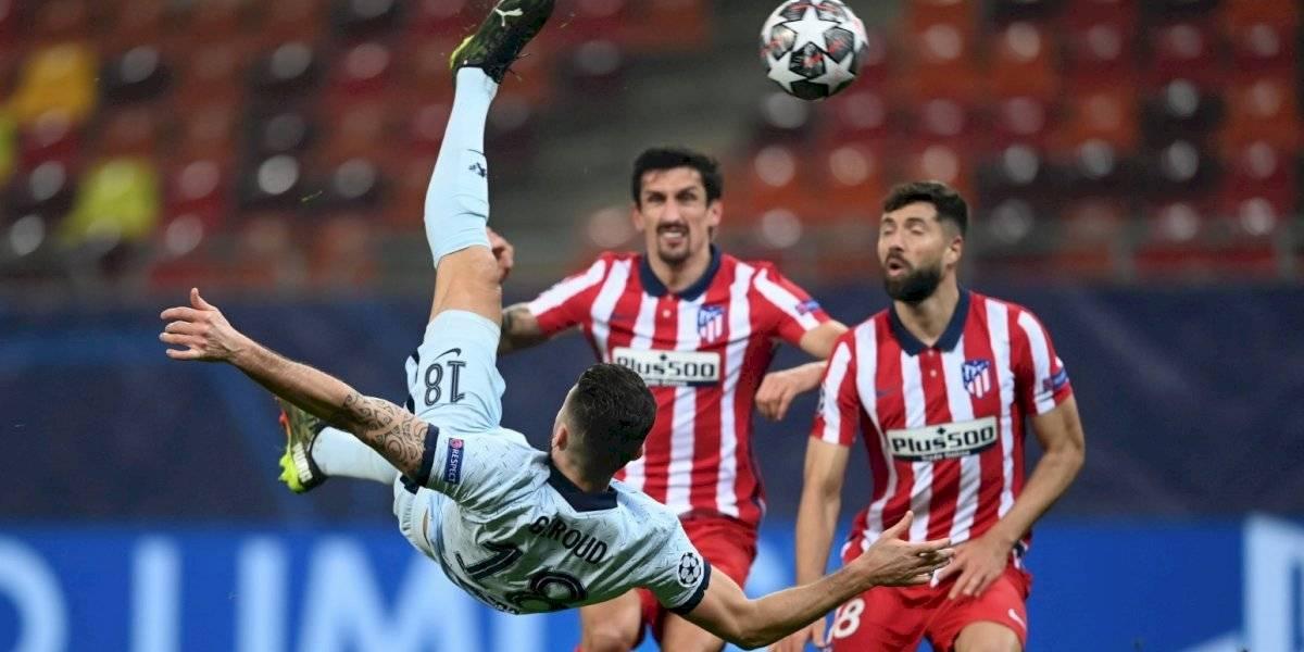 VIDEO: ¡Golazo! La chilena de Olivier Giroud frente al Atlético de Madrid