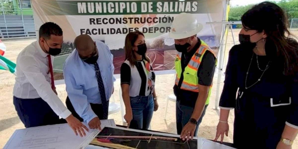 Proyecto Salinas 2030 arranca con fuerza restaurando facilidades deportivas