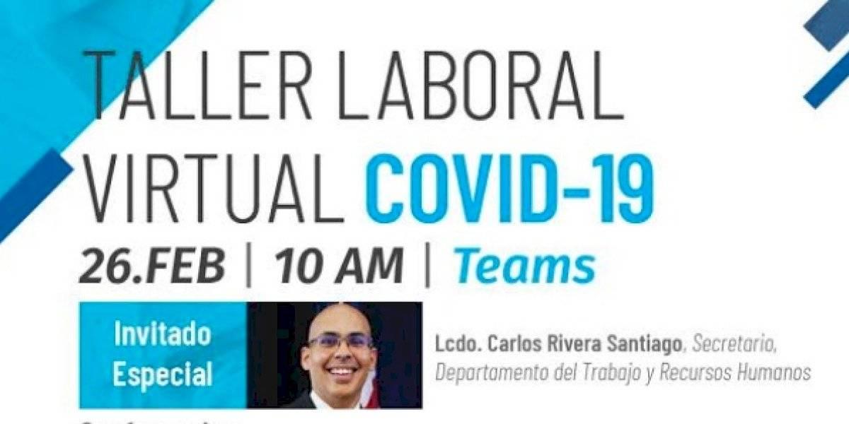 Anuncian taller laboral sobre el coronavirus