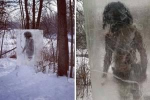'Homem das cavernas' preso em bloco de gelo é encontrado em parque nos Estados Unidos