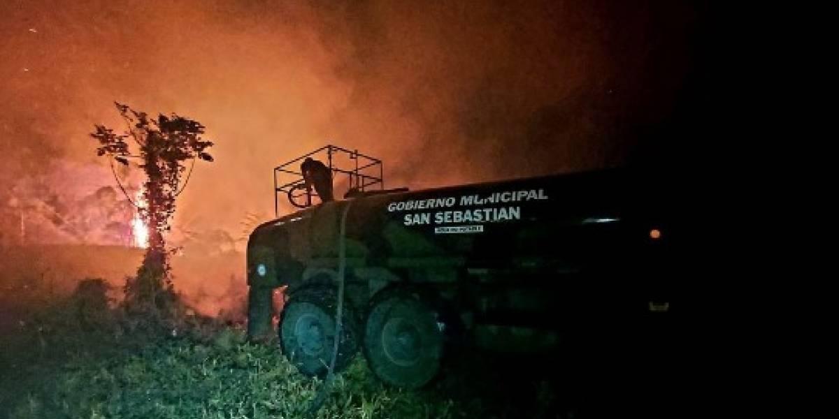 No descartan que fuegos en San Sebastián hayan sido provocados