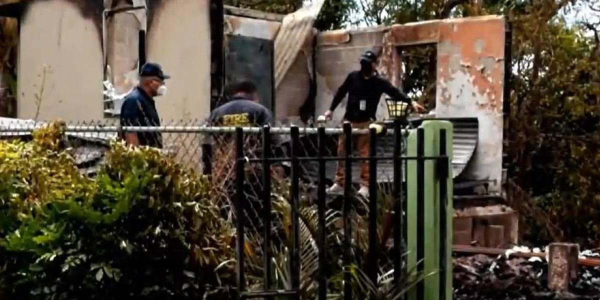 Arrestan a hombre por supuestamente incendiar su casa con su padre adentro