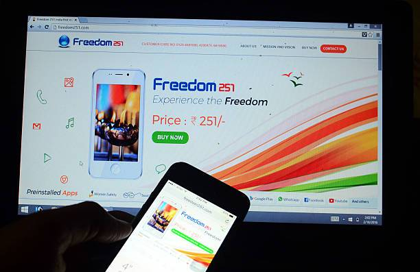 El Freedom 251, el celular más barato del mundo.