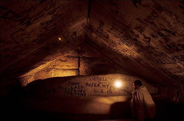 Interior de la pirámide de Keops.