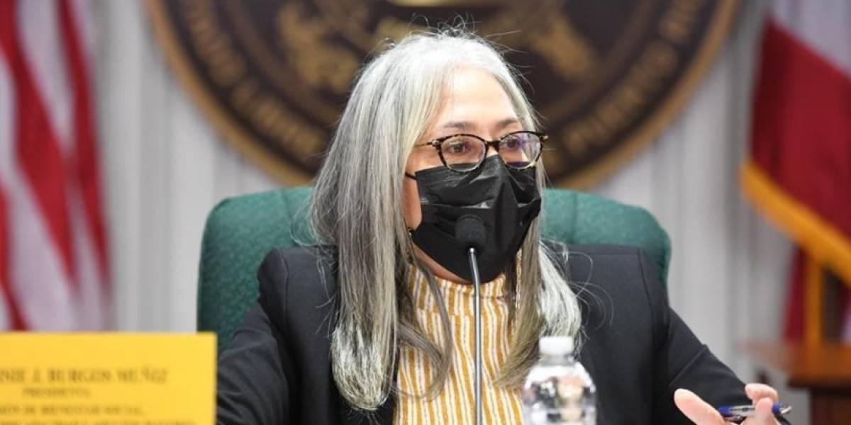 Lisie Burgos Muñiz se opone a la vacunación compulsoria para empleados públicos