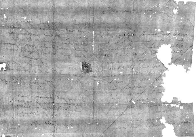 La carta analizada por los investigadores.