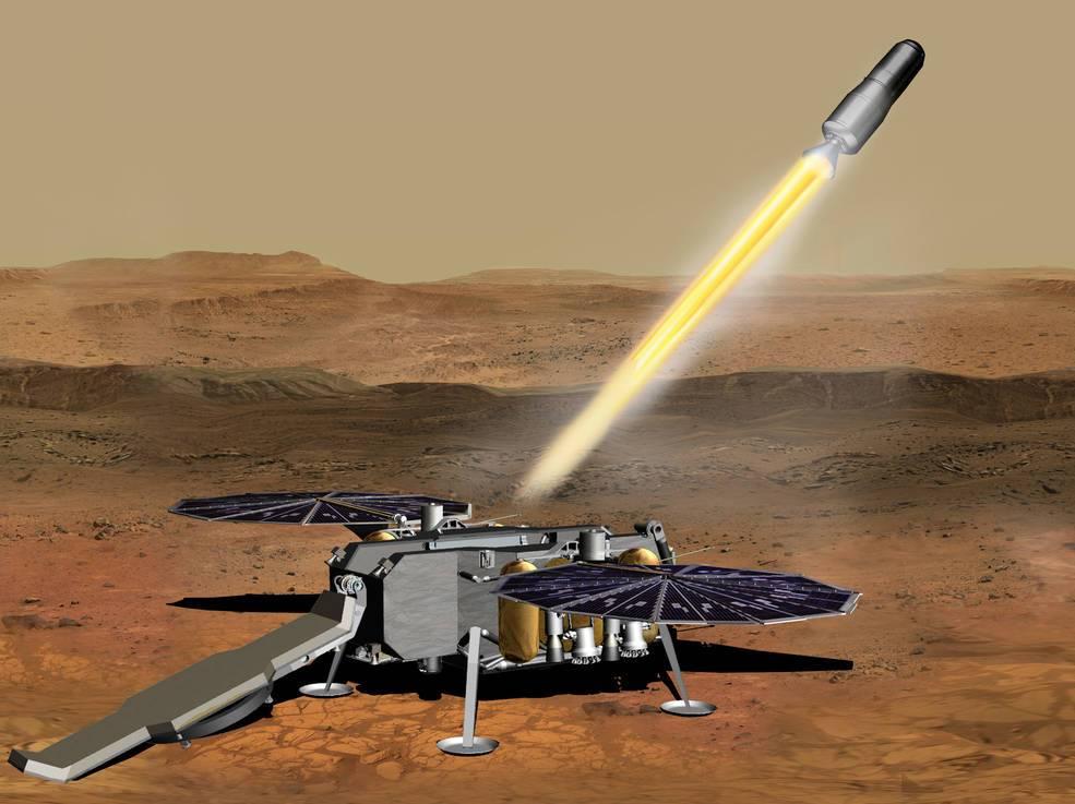 Así sería la misión de la NASA y Northrop Grumman en Marte.