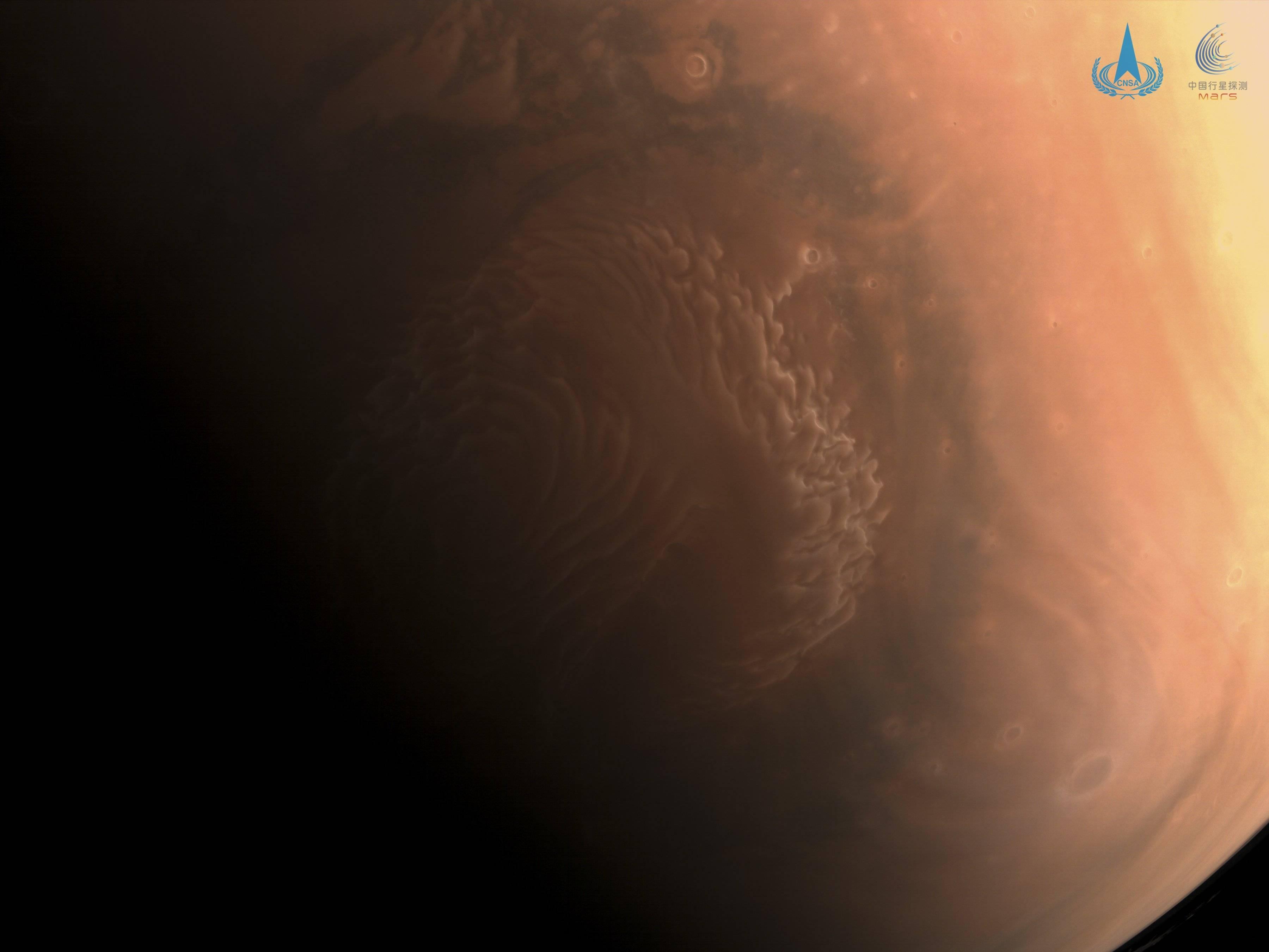 Fotografía china de Marte.
