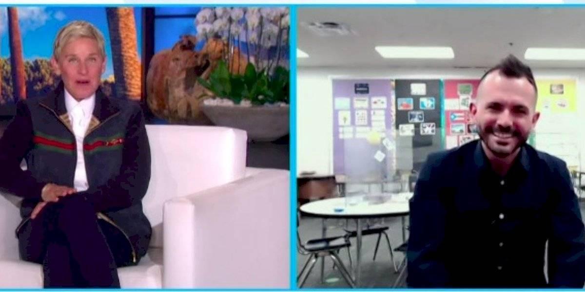Ellen DeGeneres invita a su programa a maestro boricua al que había reconocido