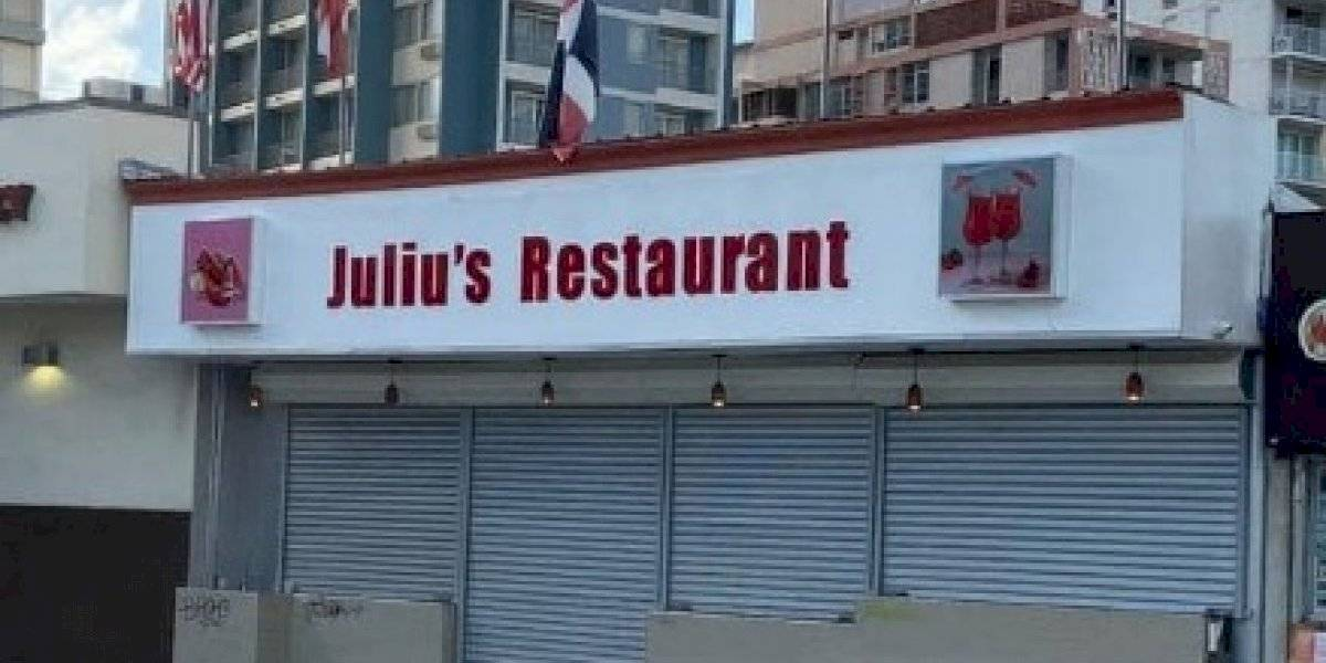 Cierran restaurante Julius en Condado por violación a la Orden Ejecutiva