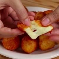 Bolitas de queso con solo tres ingredientes