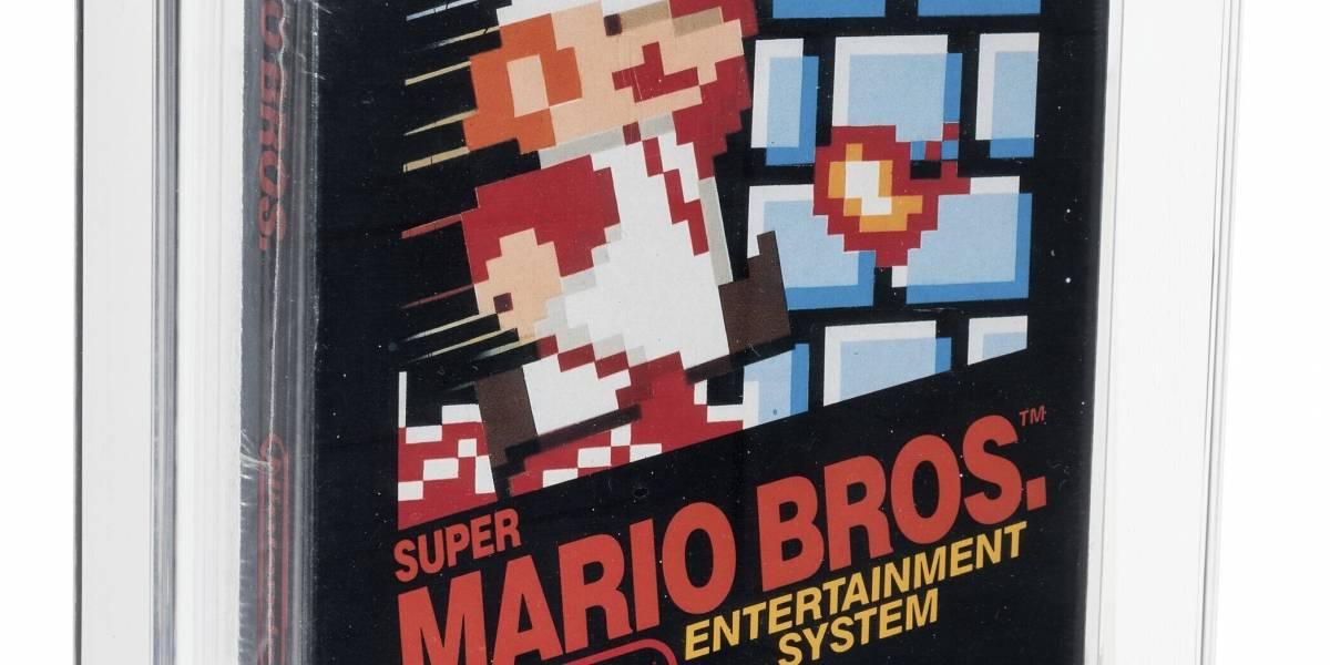 Subastan cartucho de Mario Bros. de 1986 por $660,000