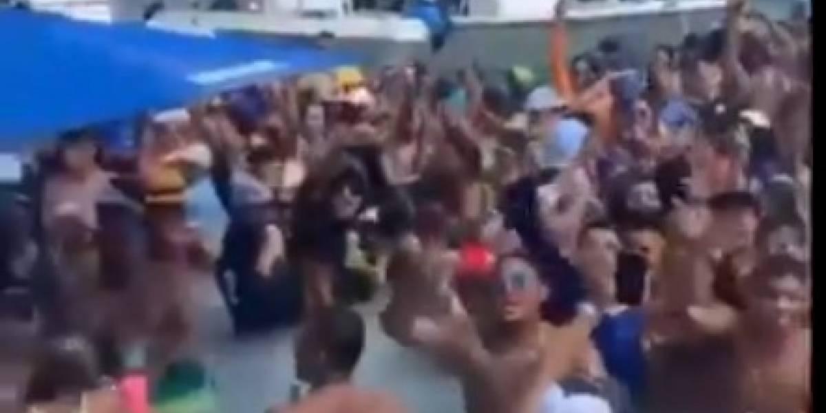 Expresan preocupación por aglomeración en playa