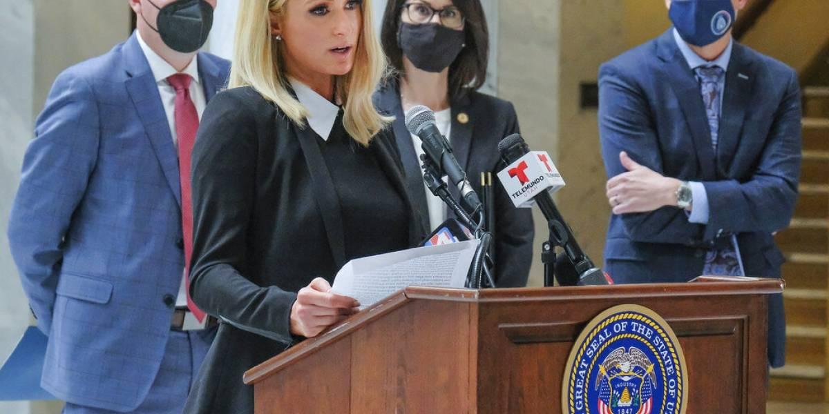 Paris Hilton regresa a Utah para firma de ley contra abusos