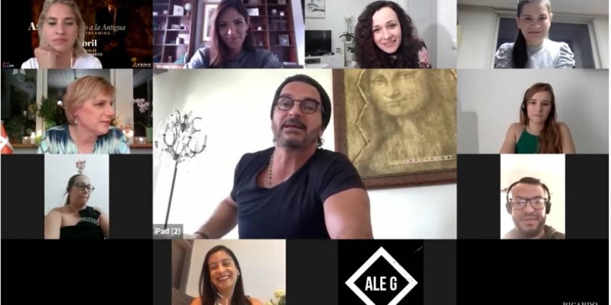 Ricardo Arjona sorprende a fanáticos de todo el mundo con videollamada