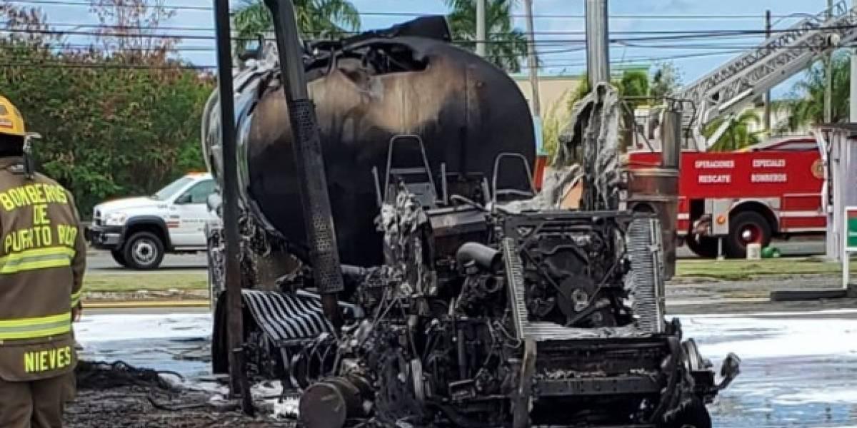 Extinguen incendio de camión de gasolina en estación de Canóvanas