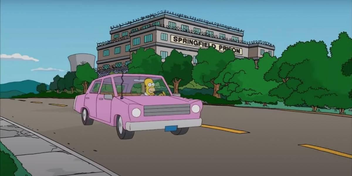 ¿Qué modelo es el característico auto rosita de Homero Simpson?