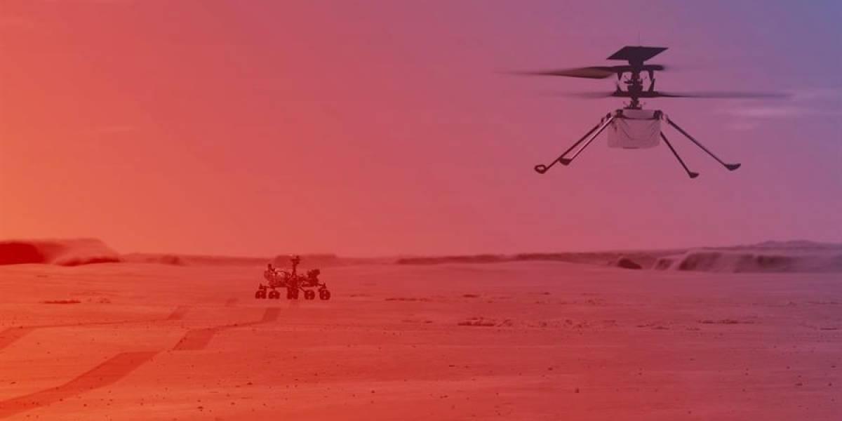 Helicóptero 'Ingenuity' de la NASA, listo para histórica hazaña en Marte