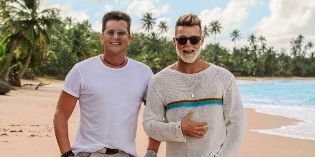 Ricky Martin y Carlos Vives le cantan juntos a Puerto Rico