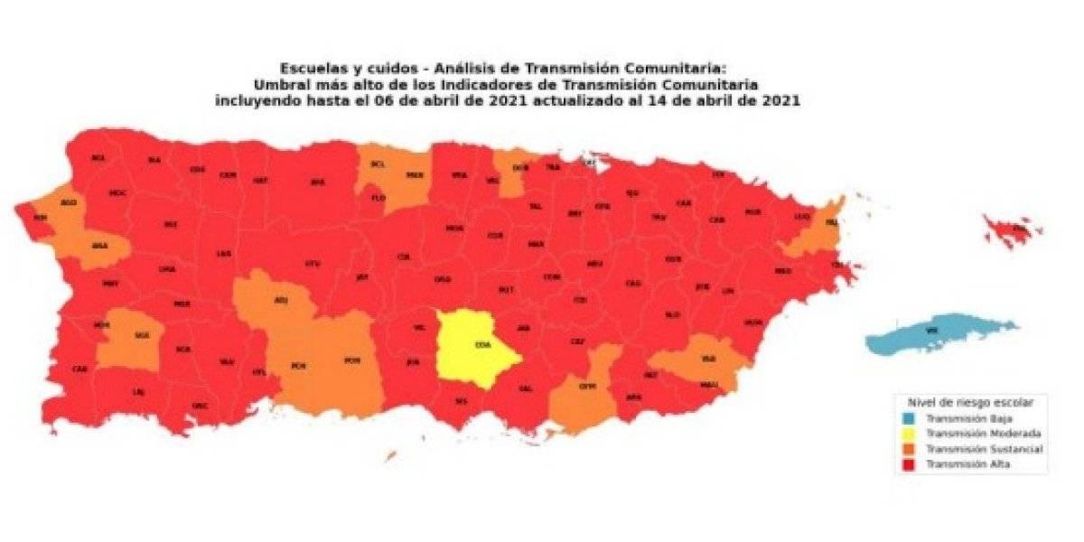 Aumentan a 64 los municipios con transmisión alta de COVID-19