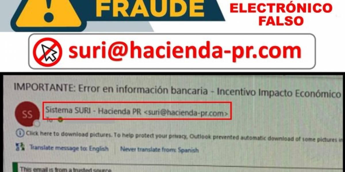 Hacienda alerta a contribuyentes sobre correo electrónico fraudulento