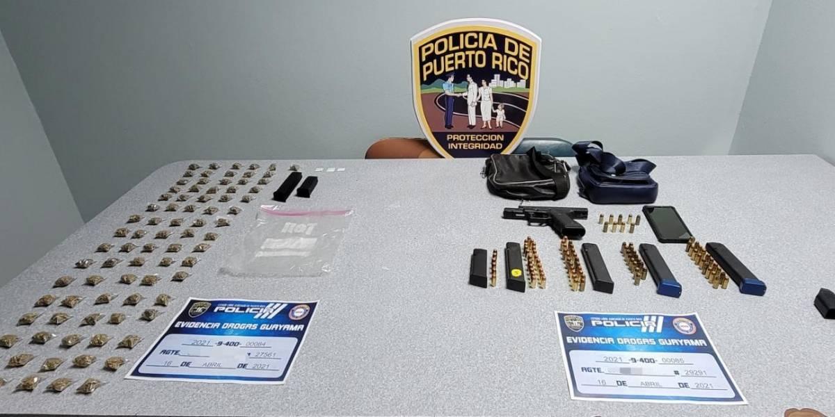 Dos arrestos y hallazgos de droga durante intervención en Guayama