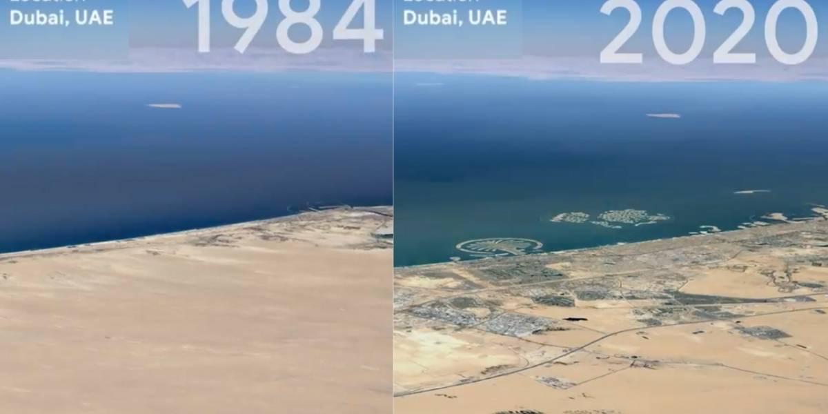 Google Earth muestra los cambios del planeta a través de imágenes