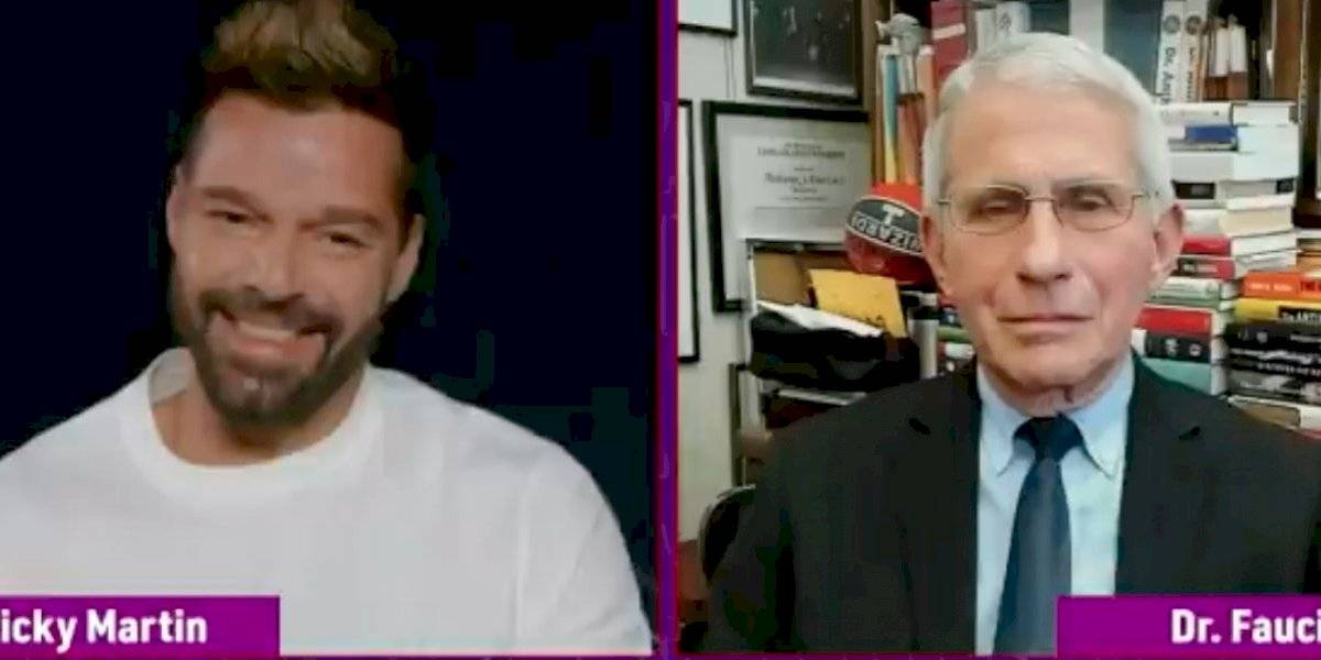 Ricky Martin entrevista al doctor Fauci en los Latin AMAs 2021