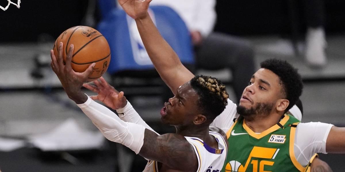 Lakers se sostienen en tiempo extra y vencen a Jazz