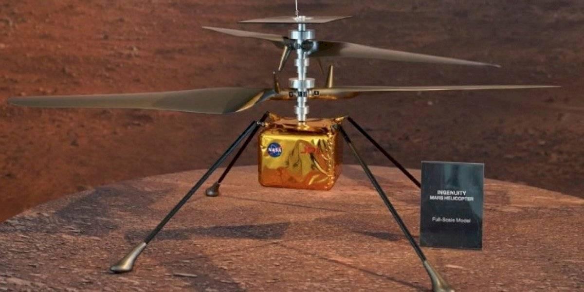 Helicóptero de la NASA en Marte completa su primer vuelo