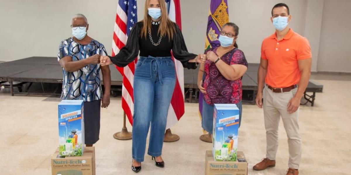 Reparten purificadores de aire a familias vulnerables en Canóvanas