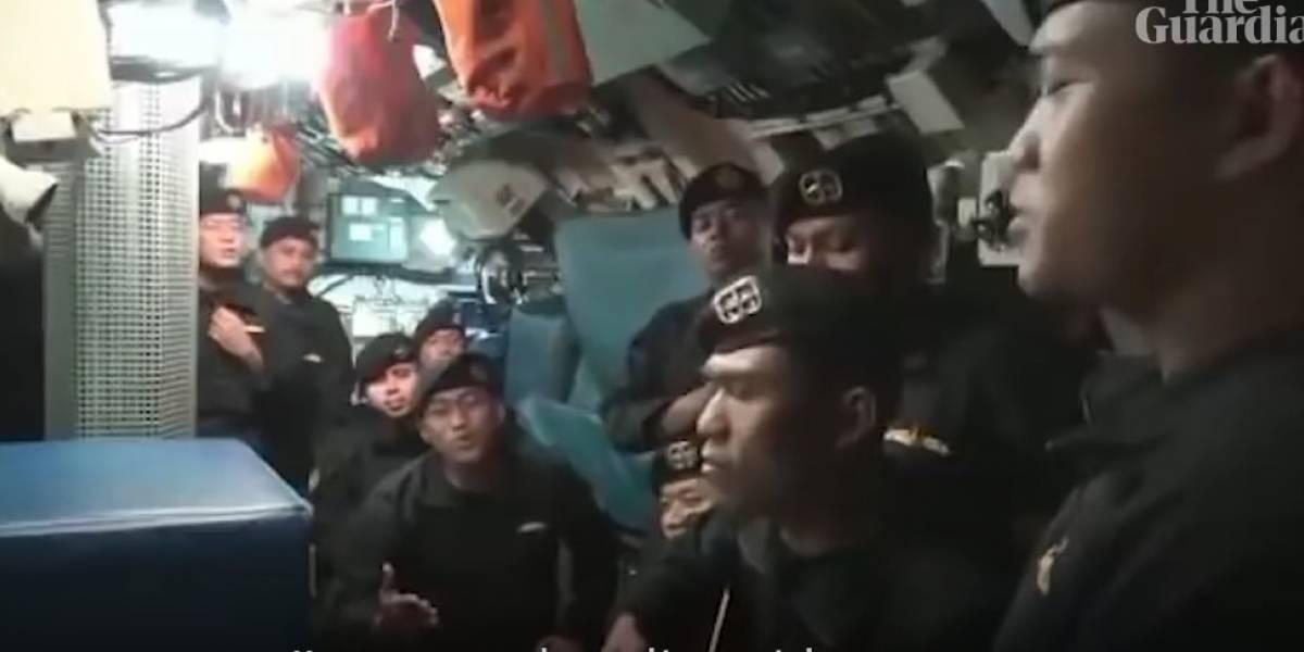 Revelan video de la tripulación de submarino antes de hundirse en Indonesia