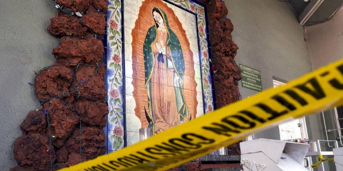 Dañan mural de la Virgen de Guadalupe en Los Ángeles