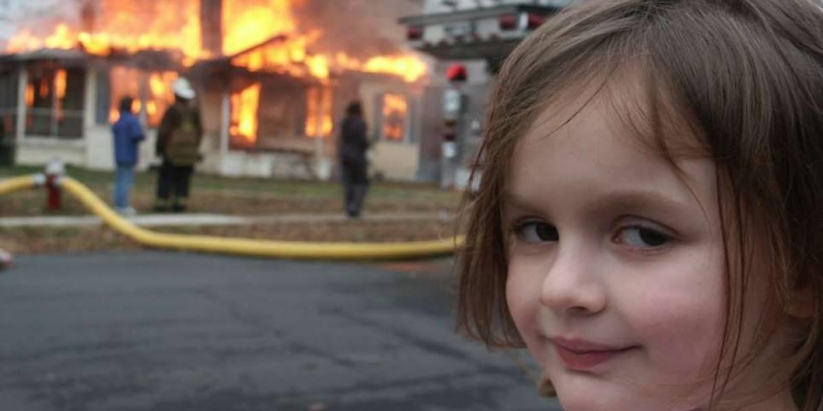 Disaster Girl: niña del meme gana casi medio millón de dólares tras vender el NFT de la famosa imagen