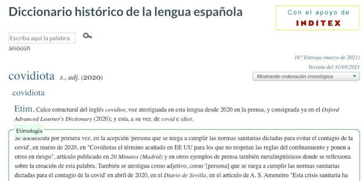 """Real Academia Española acepta el término """"covidiota"""""""