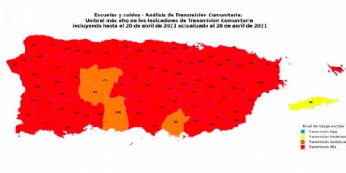 Sigue en 73 los municipios con transmisión alta del COVID-19