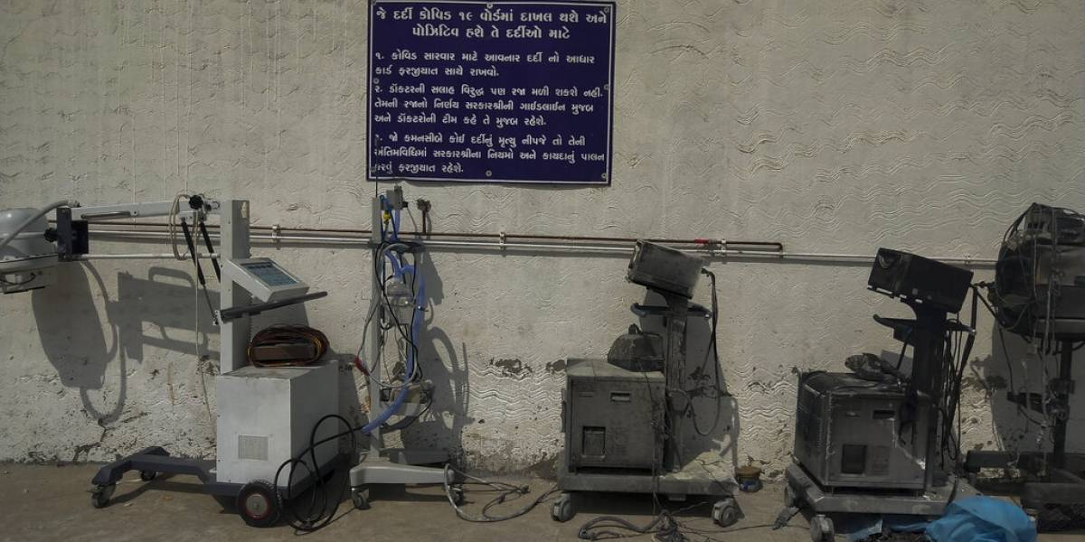 Incendio en hospital mata a 18 pacientes con COVID-19 en India