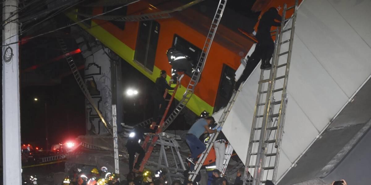 Metro cae en la Ciudad de México y deja 23 muertos y 70 heridos