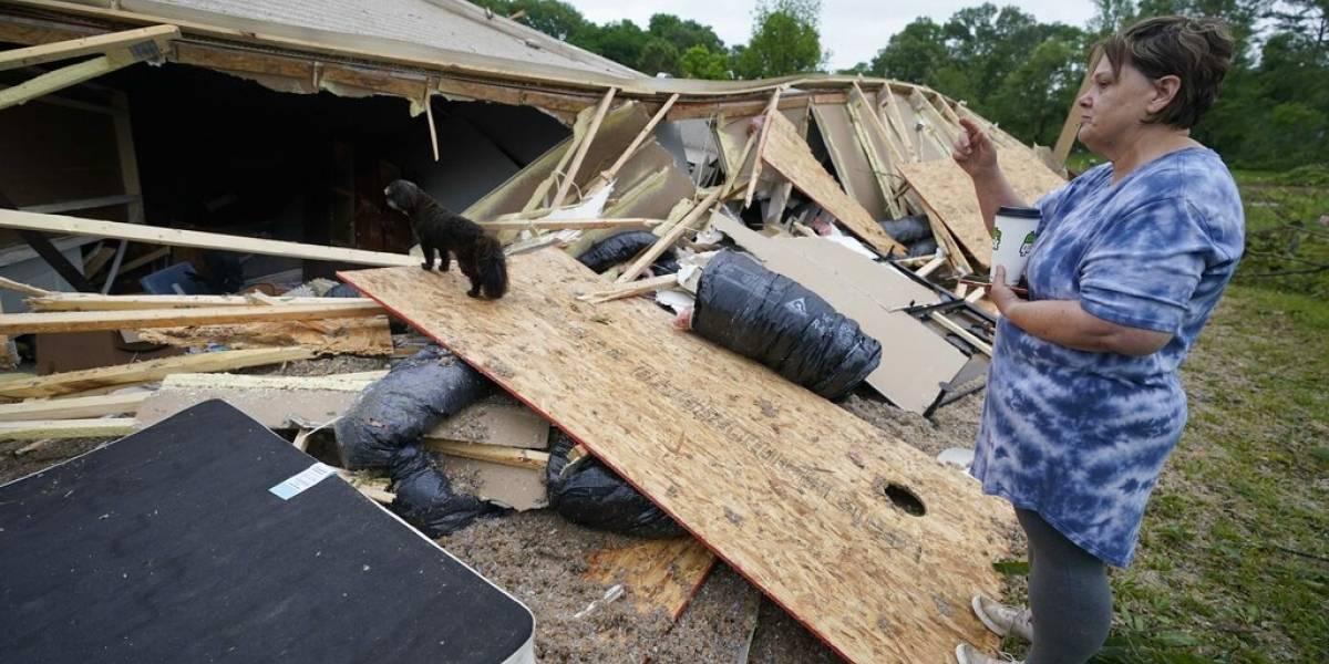 Tormentas causan tres muertos en el sur de Estados Unidos