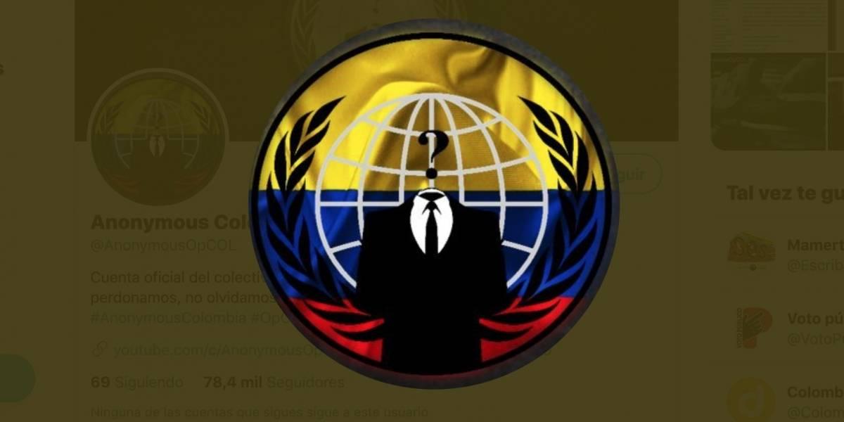 Anonymous hackea página del Ejército de Colombia en medio de estallido social