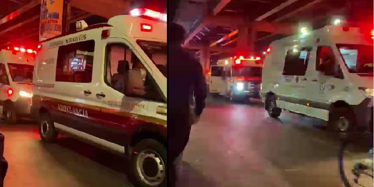 Trasladan heridos tras desplome del Metro de la Línea 12 en México