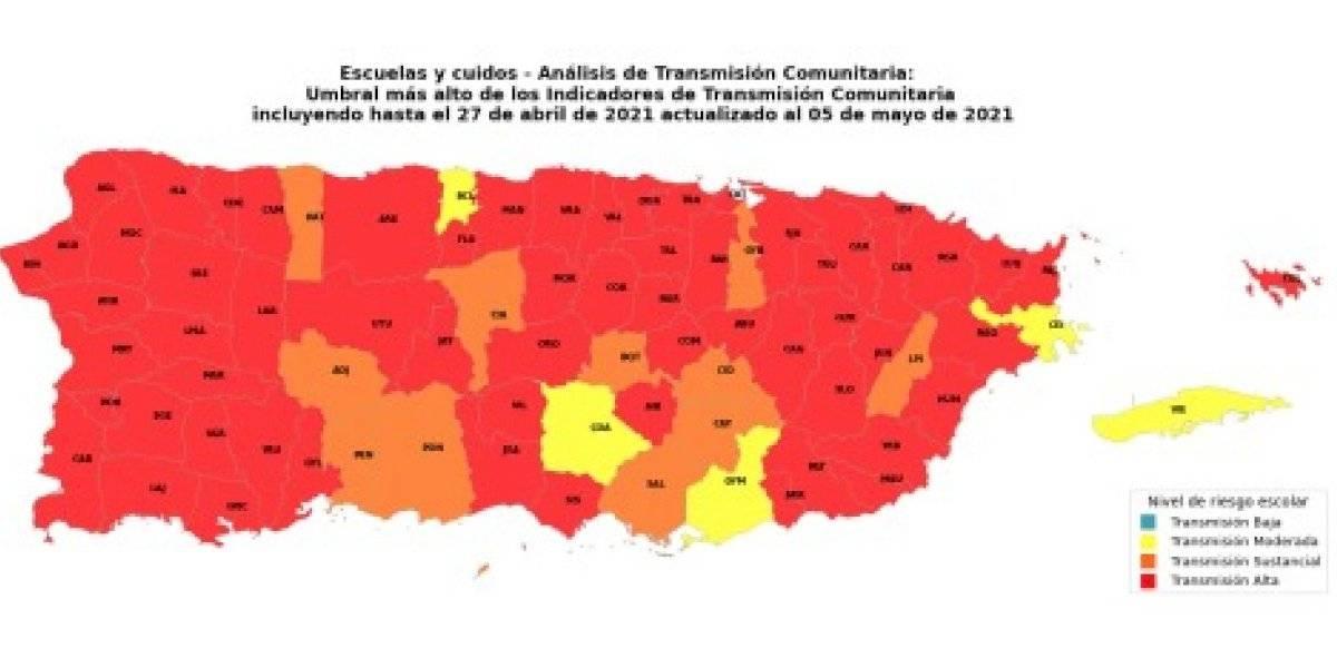 Bajan a 62 los municipios con transmisión alta del COVID-19