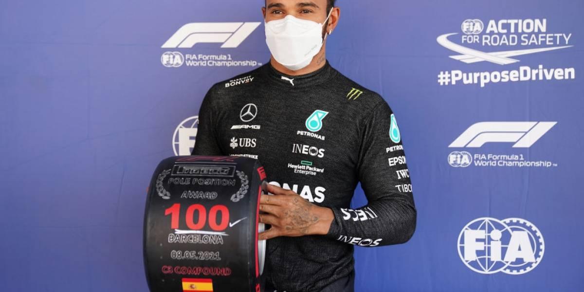 Lewis Hamilton hace historia y firma 100 poles en F1